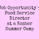 JOB OPPORTUNITY – FOOD SERVICE DIRECTOR FOR SUMMER CAMP